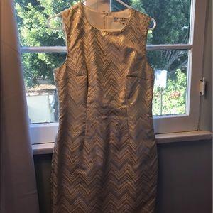 Trina Turk Metallic Chevron Dress
